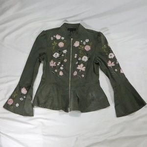 INC International Concepts Floral Flare Jacket